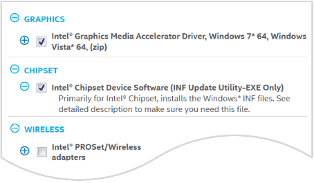 intel chipset drivers