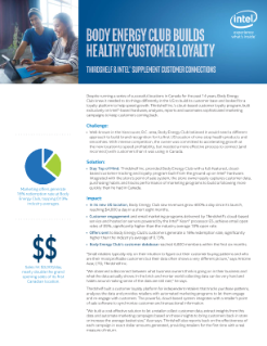 Body Energy Club Builds Customer Loyalty with Intel and Thirdshelf
