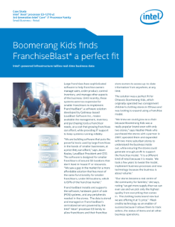 Boomerang Kids Finds Intel®-Powered FranchiseBlast* a Perfect Fit