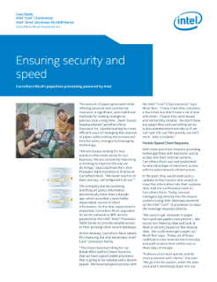 Ensuring security and speed