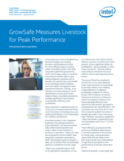 GrowSafe Systems Automates Livestock Performance Monitoring