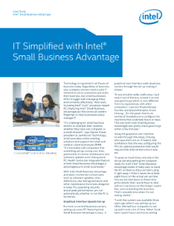 Small Businesses Save Time and Simplify IT with Intel® SBA