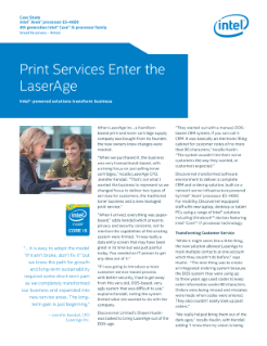 LaserAge, Inc. Moves Printing Out of the DOS-age
