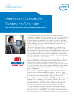 Case Study: Morris BuildAll Centres and Intel