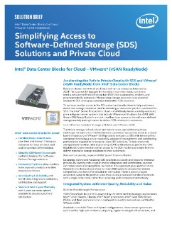 Increase Access to Private Cloud—SDS, VMware* VSAN Ready Nodes