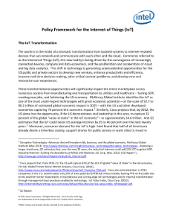 Policy Framework for the Internet of Things (IoT)