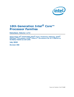 10th Gen Intel® Core™ Processor Families Datasheet, Vol. 1