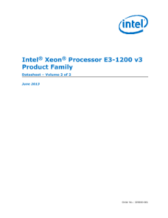 Intel® Xeon® Processor E3-1200 v3 Family: Datasheet, Vol. 2
