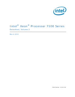 ® ® Intel Xeon Processor 7500 Series Datasheet, Volume 2