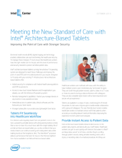 Tablets in Healthcare IT: Transforming the Point of Care