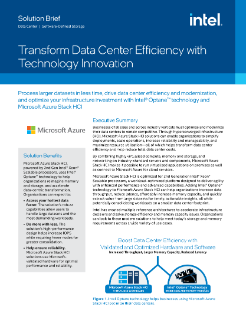 Transform Data Center Efficiency