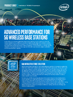 Intel Atom® P5900 Processors for 5G Network Edge Acceleration