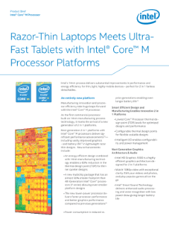 Intel® Core™ M Processor Product Brief