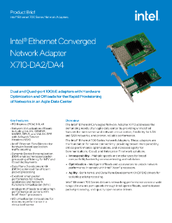 Intel® Ethernet Converged Network Adapters X710 10/40 GbE
