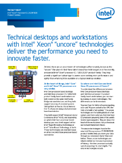 Intel® Xeon® Processor E5-2600/1600 Product Families Brief