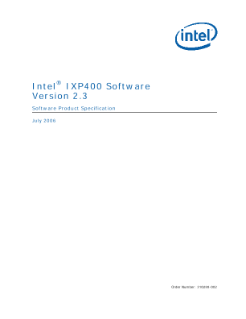 Product Specification: Intel® IXP400 Software, V2.3