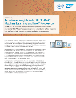 Accelerate SAP HANA* Machine Learning