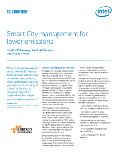 End-to-End Smart City Management Solution from Intel and AWS