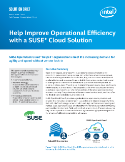 SUSE OpenStack Cloud* Solution Aids Efficiency