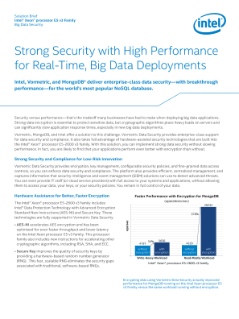 Solution Brief Intel® Xeon® processor E5 v3 Family Big Data Security