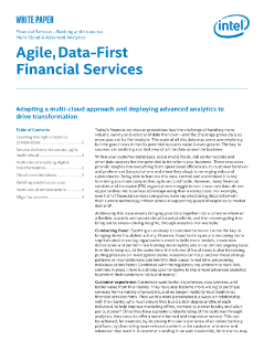 Agile, Data-First Financial Services - A Multi-Cloud Approach