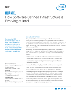 How Software-Defined Infrastructure Is Evolving at Intel