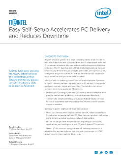 Easy Self-Setup Accelerates PC Delivery