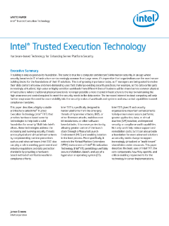 Intel® Trusted Execution Technology: White Paper